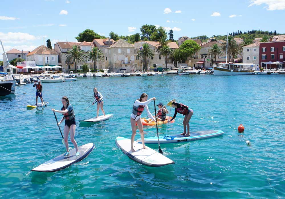 Stand up paddle boarding on brac island