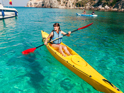family sea kayak tours in Croatia