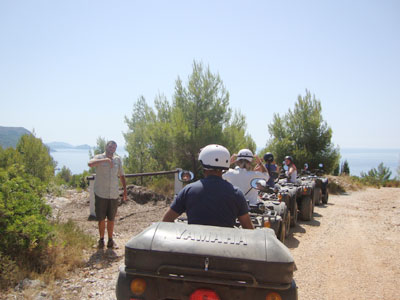 quad biking in trogir