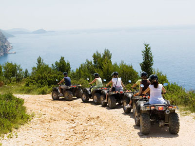quad biking in split for families