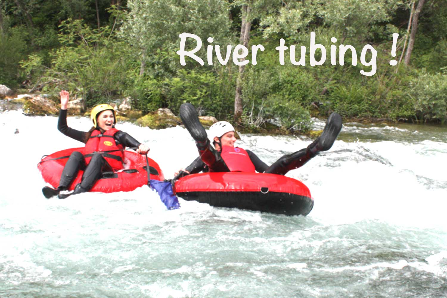 River tubing as part of a Croatia water sports holiday for families