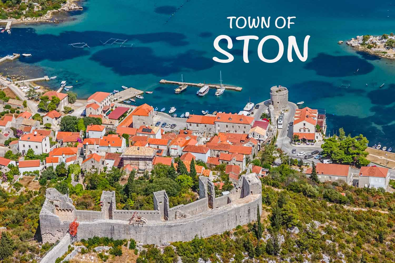 Town of Ston in Croatia